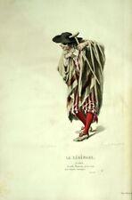 The Senerade Scapin Costume Theatre Jean Racine engraving 19th