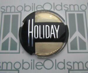 "1952-1953 Oldsmobile 98 ""Holiday"" Side Roof Plastic Emblem Insert Ninety Eight"