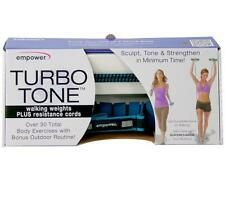 NEW   Empower Fitness Exercise Turbo Tone Walking Weights PLUS Resistance Cords