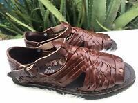BROWN HUARACHE SANDALS MEN'S mexican sandals huaraches mexicanos 100% vaqueta