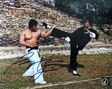 Bolo Yeung Autographed Enter The Dragon Kick w/ Bruce Lee 8x10 Photo ASI Proof