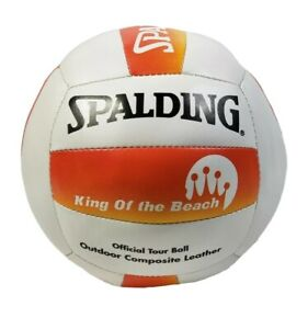 Spalding King Of The Beach Official Tour Volleyball Outdoor Composite Leather