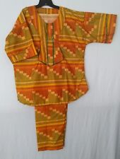 Ethnic African clothing casual mens 2 piece size large