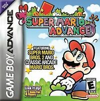 Super Mario Advance - 2001 Platformer - Nintendo Game Boy Advance GBA