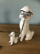 More details for 1960s poodle & pup figurine/collectable dog ornament made in japan