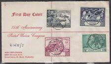 Leeward Is.- St. Kitts Scott 126-9 FDC - 1949 UPU 75th Anniversary