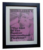 MORRISSEY+International Playboys+POSTER+AD+ORIGINAL+1989+FRAMED+FAST GLOBAL SHIP