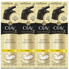 4 Olay Total Effects Pluma Hidratante 7-In-1 Spf15 Antiedad Crema 50ml