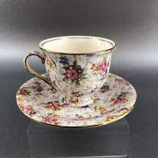 Royal Winton Grimwades Chintz Vintage Demitasse Cup Saucer Floral England