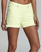 HUE Large Neon Yellow Chinos Shorts NWT MSRP$30.00 (Location 840B-72)