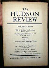 1950 JAMES JOYCE MEMOIR PAUL VALERY NORTHROP FRYE W S MERWIN + HUDSON REVIEW
