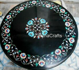 30x30 Inches Marble Dining Table Top Floral Design Coffee Table for Living Room
