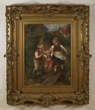 Ludwig Blume Siebert (German,1853-1929) Original Oil Painting On Canvas Signed
