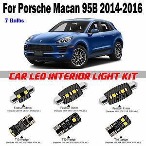 7pcs Deluxe White LED Interior Light Kit For Porsche Macan 95B 2014-2016 Package