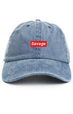 Savage Denim Custom Unstructured Baseball Dad Hat Cap Supreme New