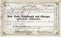 CIVIL WAR Major General JAMES SCOTT NEGLEY Signed 1881 RR Bond