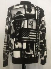 RELIGION Unisex Art Graphic Sweater W/Pockets Size Medium We Live In Black