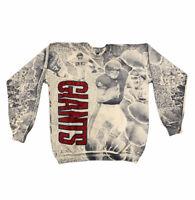 Vtg New York Giants NFL Men's Size XL All Over Double Sided Sweatshirt USA Rare
