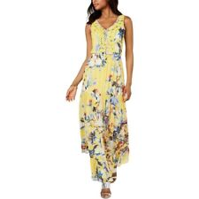 MSK Women's Floral Evening Maxi Dress, Yellow, Size 16, $159, NwT