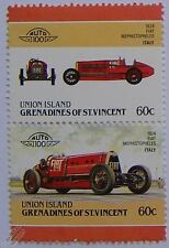 1924 FIAT MEPHISTOPHELES GP Car Stamps (Leaders of the World / Auto 100)