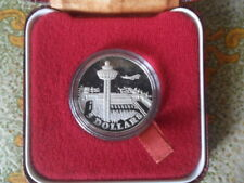 1981 Singapore Changi Airport $5 Silver Proof Coin