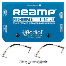 Radial ProRMP Passive Re-Amp Re-Amper Pro RMP Box NEW w 2 Patch Cables