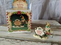 Enesco nugget painting sign elf Sandy Ziminski North Pole village