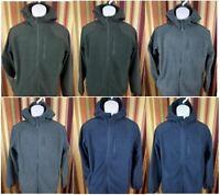 NEW Men's Reebok Full Zip Hoodie Jacket Fleece Mixed Media Layering Warm