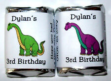 60 DINOSAUR BIRTHDAY PARTY CANDY WRAPPER FAVORS