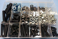 1/4 to 1/2UNF Fasteners Pack 540 pieces - mixed kit of UNF bolts, nuts & washers