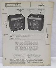 Photofact Folder E/L Electronic Labs Model 2660 Utiliphone Parts Manual