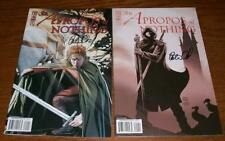 signed set (2) SIR APROPOS of NOTHING 1 A/B PETER DAVID IDW 1st print COMIC BOOK