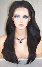 USA Dark Brown # 2 Lace Front Wig Heat Ok Iron Safe Resistant Long Straight Dah