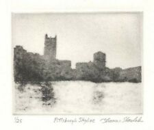 PITTSBURGH SKYLINE original etching signed & numbered