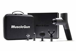 MuscleGun Carbon Massage Gun - Variable Speed Control, 4 Massage Attachments