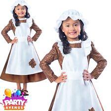 Victorian Girls Fancy Dress Poor Maid Book Week Childrens Child Costume
