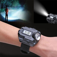 Waterproof Tactical R5 Rechargeable LED Flashlight Torch Wrist Light Lamp 2-Mode