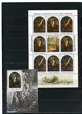 ST.THOMAS & PRINCE ISLANDS 1983 EASTER PAINTINGS BY REMBRANDT SHEET & S/S MNH