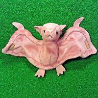 1st Gen 1996 Ty Beanie Baby Batty The Bat Rare PVC Plush Toy MWMT Free Shipping