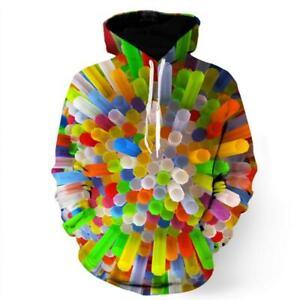 3D Colorful Straw SweatshirtHoodie