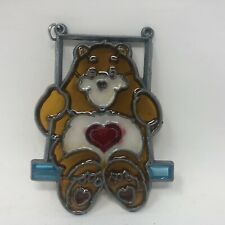 Vintage Care Bears Stained Glass Suncatcher Makit Bakit Tenderheart Bear