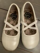 Livie And Luca Aurora White Pearl Ballet Flat Toddler Size 8 EUC