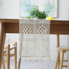 Vintage Lace Tassel Crochet Table Runner Cloth Wedding Dining Home Party Cover