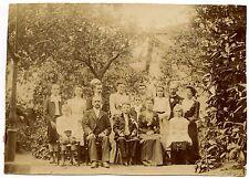 Famille communiant groupe - photo ancienne début XXe siècle
