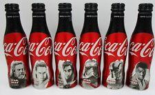 * ALUMINUM 2017 Star Wars Last Jedi Coca Cola 6 Bottle set France Disney