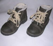 Cherokee Children's Brown High Top Hiking Shoes Faux-Fur Lining Kid Boy 10 GREAT