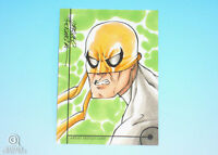 2013 Fleer Marvel Retro Iron Fist Sketch Card Marcelo Ferreira Original Art 1/1