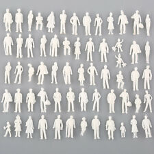 100x unpainted scale new model railway train people figures HO gauge WHITE 19mm