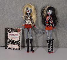 Monster High Dolls Meowlody and Purrsephone W/Journal