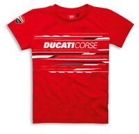 DUCATI Corse Sport Kinder KIDS kurzarm T-Shirt rot NEU 2020 !!